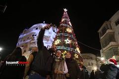 Palestinians turn on Christmas tree lights in the West Bank city of Ramallah, on December 4, 2016. (TeamPalestina) Tags: freepalestine palestinian sunrise sweet beautiful heritage live photo photographer تصويري palestine jerusalem haithamkhatib occupation bilin blockade demonstration iof prisoners westbank ramallah uae me qatar turkey