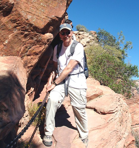 Gripping Chains on Portions of Last Half Mile of the Angels Landing Trail in Zion National Park, Utah