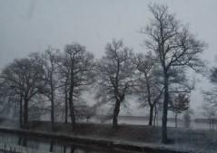 6 - Il neige sur le canal du Centre