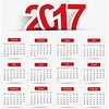 free vector Calendar for 2017 Year on White Background (cgvector) Tags: 2017 april august background banner calendar clean color company date day december design diary event february flat friday holiday january july june march may monday month monthly new november october office organizer planner print red saturday schedule september simple sunday template thursday time tuesday vector wednesday week year