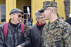 First meet (Jon_Marshall) Tags: scott grandpabill bill marines marine bootcamp graduation marinecorpsrecruitdepot sandiego mcrd