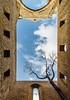 No ceiling (Marie Hélène) Tags: palermo architecture sicily rovine sky blue perspective wideangle wide canon italy grandangolo