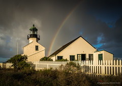 After a storm comes a rainbow (eramos_ca) Tags: pointlomalighthouse rainbow pointloma sandiego california clouds landscape travel samyang12mm sonya6500