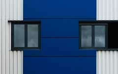Not symmetric (jefvandenhoute) Tags: belgium belgië belgique brussels brussel bruxelles light shapes blue windows photoshopcs6