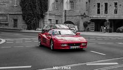 Romantic Strasse - Wurzburg - Ferrari (iw2ijz) Tags: germania germany romanticstrasse romantica street stradaromantica strada wurzburg auto car ferrari rosso bw