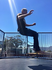 M. Trampolining at MONA