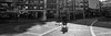 Bicyclist (K. Besios) Tags: blackandwhite larisa leicadlux4 street candid streetphotography shadows contrast panoramic bicycle bicyclist greece bw city