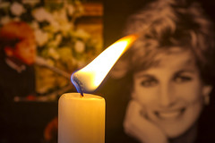 Macro Mondays - Inspired by a Song (Roger Brown (General)) Tags: macromondays inspiredbyasong candle wind elton john diana princess wales