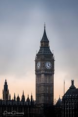 'Big Ben', London At Sunset (Peter Greenway) Tags: clocktower queenelizabethtower londonbridge dayout lowlight londoneye bigben westminster imperialwarmuseum streetphotography london daytrip nighttime flickr