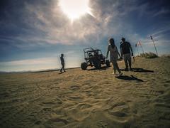 S c o r c h (Blunt_Art) Tags: sand dunes philippines ilocos scorch heat sun sky people car 4x4 gopro hero wideangle shot blue yellow prints
