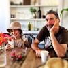 Zoe and M. Lotus Cafe. (miaow) Tags: cygnet zoe m 9yo