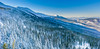 Panoramic view of Babia Góra in Poland (z.dorighi) Tags: poland landscape view scenery mountain babia góra winter hoar frost frozen trees woods peak