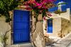 Blue doors (chill.baer) Tags: d40 dslr dsr gebäude greece griechenland nikon blue building country day flower gebau scenery summer sunlight door doors santorini outdoor