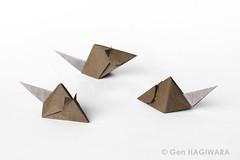 ネズミ / Rat (Gen Hagiwara) Tags: origami paper folding genhagiwara animal rat mouse prey art craft e