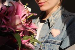 Pink Lilies (Josiedurney) Tags: love heart valentines valentine flowers lilies pink felt badge handcraft handmade beads palepink babypink blue denim denimjacket jacket fashion accessories levis lovelevis loveyourlevis girl smile sun winter clear light daylight cute sweet heartshape