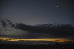 (chikache) Tags: japan nagoya home sky morning nikon d300 moon clouds sunrise dawn light break crescentmoon