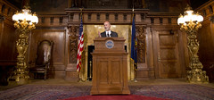 Governor Wolf holds press conference on the GOP sham budget