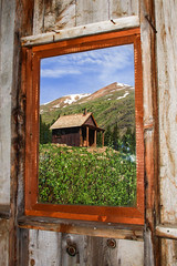 Frame Within the Frame (Buck--Fever) Tags: wood canon colorado oldbuildings alpineloop windowlight ghosttowns animasriver silvertoncolorado canon60d framewithintheframe alpinelooproad animasforkcolorado goldandsilvermining