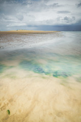Turquoise (Vemsteroo) Tags: longexposure blue light red sea storm seaweed art beach nature water beautiful weather canon landscape flow coast sand soft turquoise fineart norfolk 5d colourful wellsnextthesea mkiii 1635mm beautyinnature