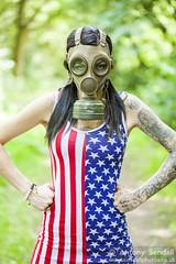 2015_07_03 Sammy 104 (Sendall) Tags: fetish us model punk military gothic goth tattoos american gasmask brunette starsandstripes alternative inked tatts tattooed