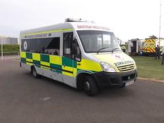 British Red Cross Irisbus Daily (EU08 AVG) (Neil 02) Tags: britishredcross ivecodaily irisbusdaily eu08avg ambulance paramedic ems brc emergencyresponseunit britishgrandprix silverstone northamptonshire emergencyservices