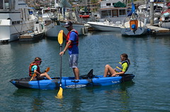 3 Person Kayak Trio-11 Paddling