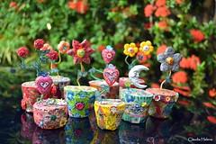 Flowers... (* Cludia Helena * brincadeira de papel *) Tags: flowers brazil flores flower love brasil amor flor papermache jarro papiermach papelmach cludiahelena