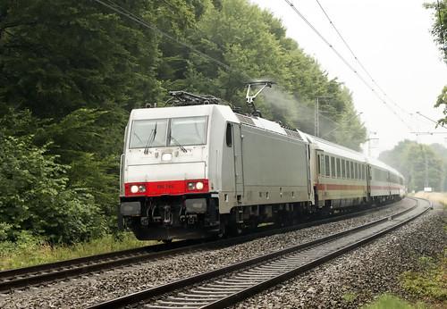 NS 186 149 met IC Berlijn-Amsterdam, Bad Bentheim 19 juli 2015