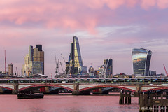 London Sunset (Rick Deacon) Tags: street sunset red london thames clouds river sundown postcard united kingdom 29 fenchurch talkie captital duskwalkie