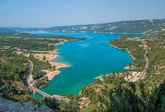 Lac de Sainte-Croix (marypink) Tags: bridge panorama lake landscape view provence paesaggio verdon provenza lacdesaintecroix pontdegaletas nikond800 nikkor1635mmf40