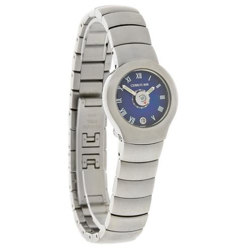 d143f7e913 Cerruti 1881 Ladies Blue Date Dial Stainless Steel Swiss Quartz Watch  CT70215072