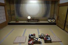 Slapen en eten in een tempel Oku-no-in Koya-San