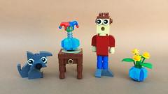 Boxtroll (-Wat-) Tags: lego absbuilderchallenge box troll clown flowers dog brickbuilt