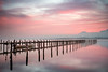 Calm morning on the lake [Explored] (Sunny Herzinger) Tags: prien fujixpro2 landscape chiemgau boat jetty chiemsee sunrise alps prienamchiemsee bayern germany de