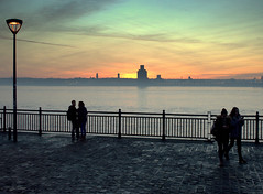 Candid Sunset in Liverpool (Tony Worrall) Tags: england northern uk update place location north visit area county attraction open stream tour country welovethenorth liverpool merseyside mersey scouse couple candid people outside wet water river sun sunset serene scene scenic nice