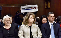 Hearing Protest (Greenpeace USA 2016) Tags: tillerson rex exxon mobile climate denier trump statedepartment secreatryofstate senate capitolhill hearing confirmation washington dc