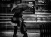 Caprice sous la pluie.../ Caprice in the rain.... (vedebe) Tags: humain people enfant pluie rue ville street city urbain noiretblanc netb nb bw monochrome