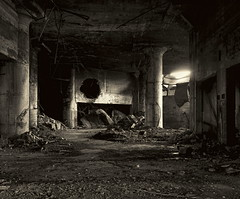Cold Rubble (95wombat) Tags: old decrepit rotted industrial decay centralwarehouse newyork bw monochrome