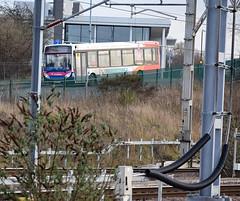 Stagecoach Midlands 36755 seen in Nuneaton, Warwickshire (paulburr73) Tags: nuneaton warks warwickshire station trentvalley platform5 stagecoach midlands 36755 kx62bto adl alexanderdennis wcml westcoastmainline railway mrs midlandredsouth weddingtonroad towncentre mast electrified electrification wired wires e200 e20d enviro200 ohle overhead 25kv 25000volts railstation ohl track