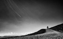 summiteer (Dan-Schneider) Tags: streetphotography schwarzweiss silhouette monochrome minimalism mood sky mountain human climb blackandwhite