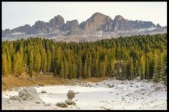 EverGreen (ELtano86) Tags: dolomite dolomiti dolomites dolomiten carezza lago lake eltano86 snow ice trees tree alberi sempre verde ever green