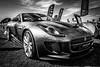 Jaguar F Type (aquanout) Tags: blackandwhite monochrome vehicle car wheels sky grass motor