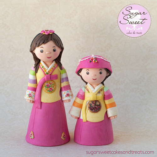 Korean Hanbok Cake Topper