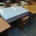 White high gloss desk E110 with drawer