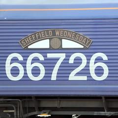 66272 SHEFFIELD WEDNESDAY (Barrytaxi) Tags: class66 football nameplate