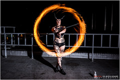 Lady Viper : Fire shoot pt 2 (Digital-Mechanic.com) Tags: red lady viper fire shoot pt 2 light painting long exposure photography staff fans rooftop body burning spinning