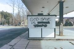 God Save Us (dpakisgood) Tags: democracy america graffiti feelings godsaveus subversive messages nikon coolpix pointandshoot streetphotography