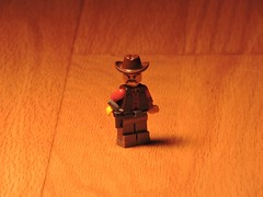 Cowboy - Belt Buckle Technique (brickdetailer) Tags: west western lego dope hat brown wood oak maple fern stuff random what everything