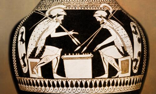 "Petteia - Ludus Latrunculorum  / Iconografía de las civilizaciones helenolatinas • <a style=""font-size:0.8em;"" href=""http://www.flickr.com/photos/30735181@N00/32522192535/"" target=""_blank"">View on Flickr</a>"