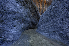 Blue Layers (Jeffrey Sullivan) Tags: slot canyon california united states usa nature landscape photography canon 5dmarkiii road trip jeff sullivan photo copyright december 2014 death valley national park photomatix hdr